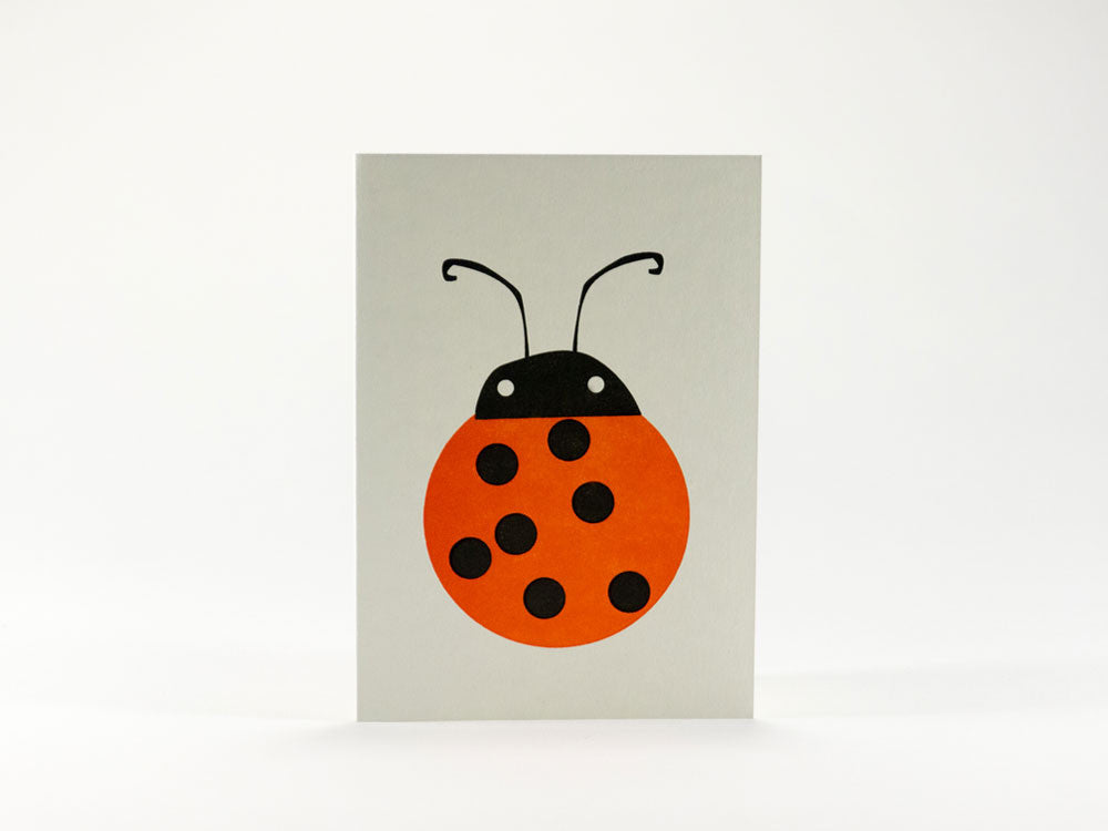 toyhood store's bits and bots ladybird mini greeting card by 1973