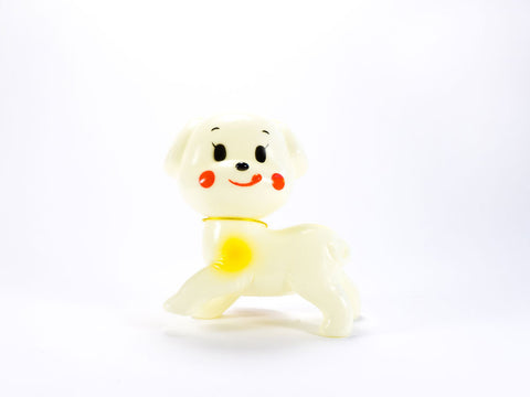 toyhood store's white dog cutie by lapin & me