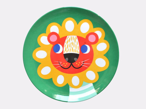 Melamine Green Lion Plate