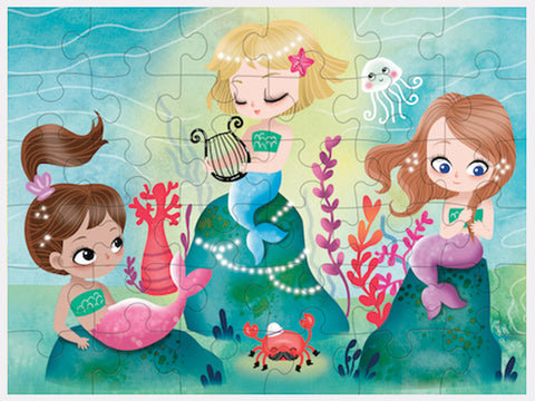 toyhood store's mermaids puzzle to go by mudpuppy