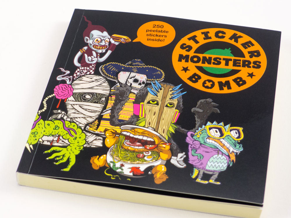 toyhood store's stickerbomb monsters book by laurence king