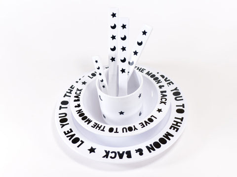 Love you to the Moon and Back Tableware Set