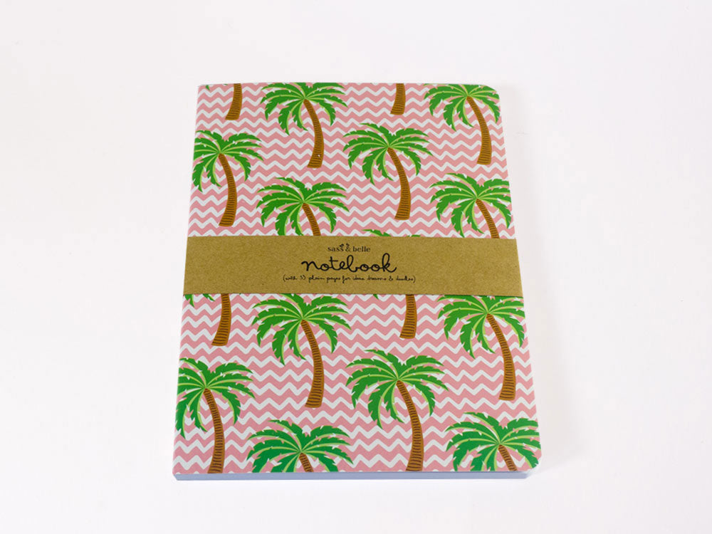 toyhood store's Tropical Summer Palm Tree A5 Notebook by sass and belle
