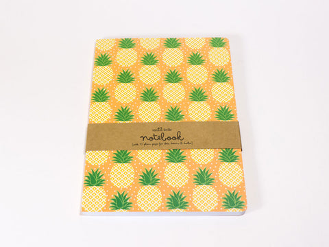 Tropical Summer Pineapple A5 Notebook