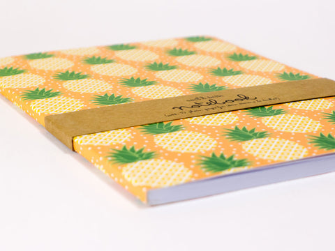 toyhood store's tropical summer pineapple a5 notebook by sass & belle