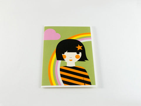 Rainbow Girl Greeting Card