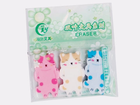 Sleeping Cat Erasers