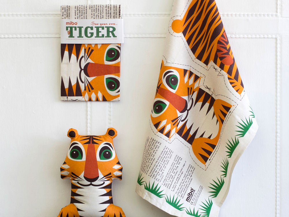 toyhood store's tiger tea towel by mibo