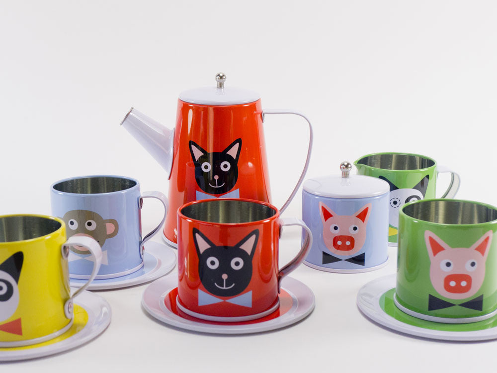 toyhood store's tin tea set by pellianni