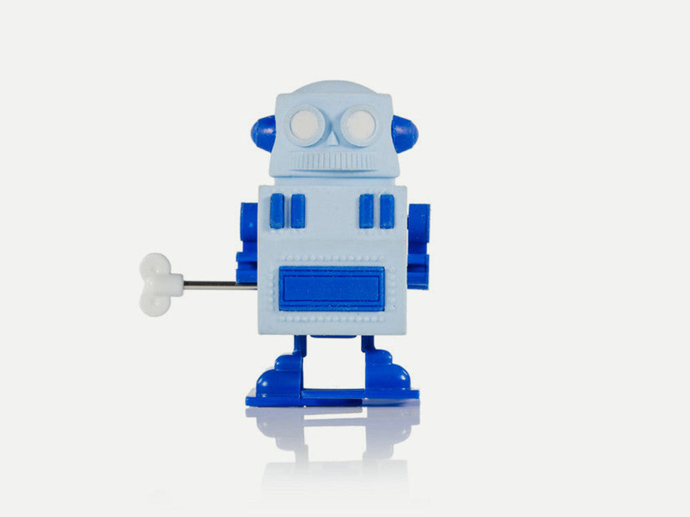 toyhood store's robot walking wind up eraser by Suck UK