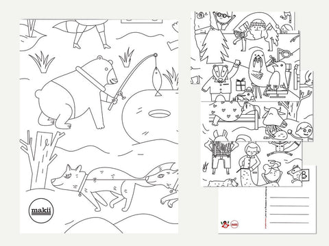 toyhood store's winter giant colouring in picture by makii