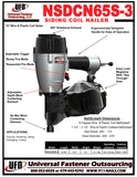 NSDCN65S-3 15° Coil Nailer (Wire & Plastic Sheet Coil)