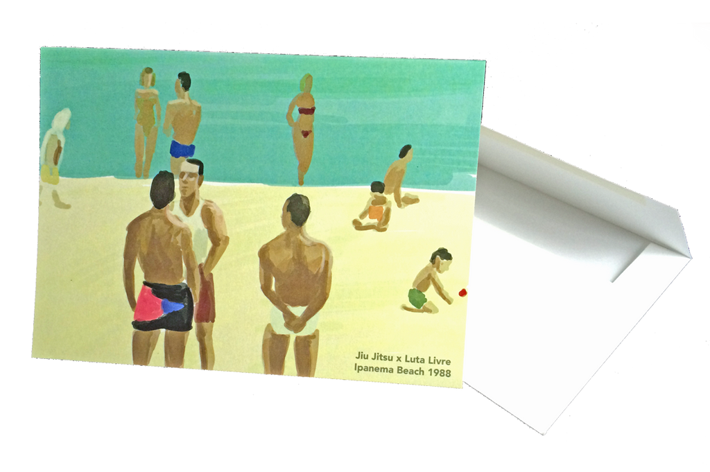 Beach Fight Greeting Cards