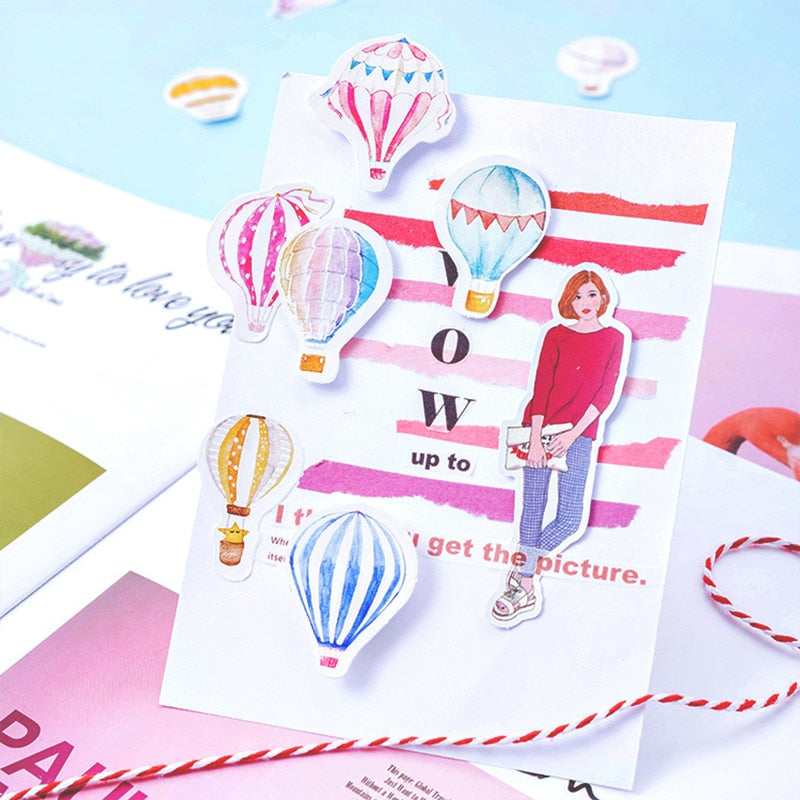 Hot Air Balloon Mini Paper Stickers