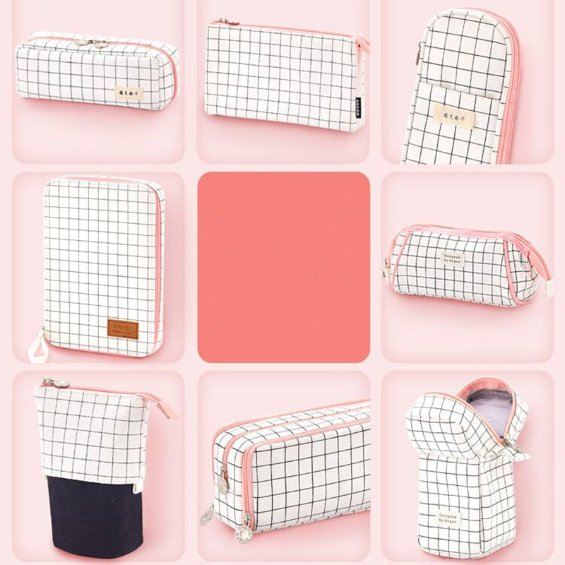 Aesthetic Plaid Pencil Cases