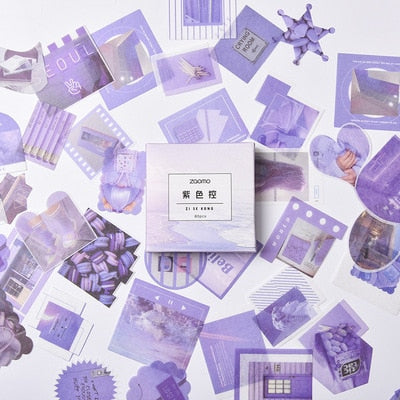Purple Tone Washi Paper Stickers