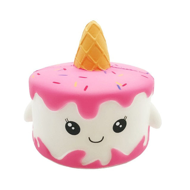 Pink & White Unicorn Cake Squishy