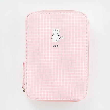 Pastel Check Pencil Case