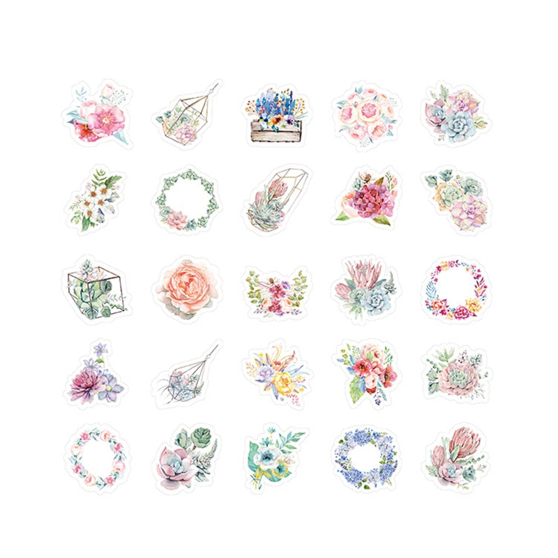 Floral Mini Paper Stickers