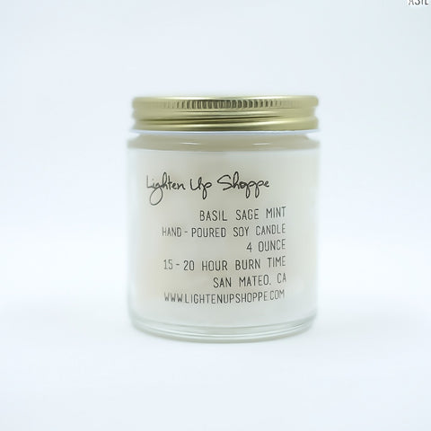 Basil Sage Mint Soy Candle
