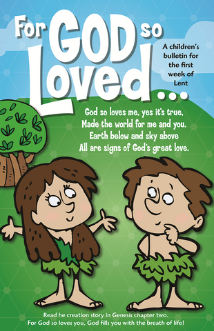 For God So Loved Children's Bulletins