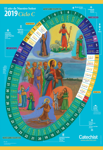 The Year of Our Lord 2018/2019 - Liturgical Calendar for Home (Spanish)