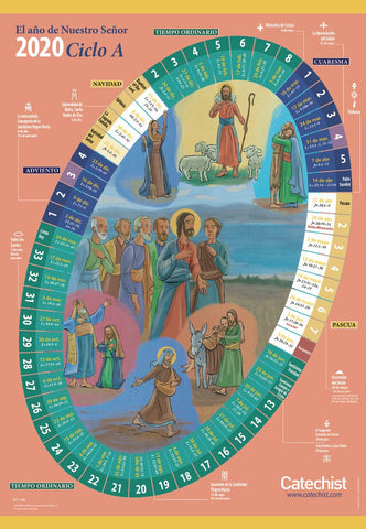 The Year of Our Lord 2019/2020 — A Liturgical Calendar for Classroom and Home — Classroom Liturgical Calendar / El Año de Nuestro Señor 2019-2020 — Un calendario litúrgico para el aula y el hogar
