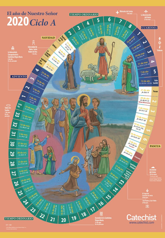 The Year of Our Lord 2019/2020 - Liturgical Calendar for Home (Spanish)