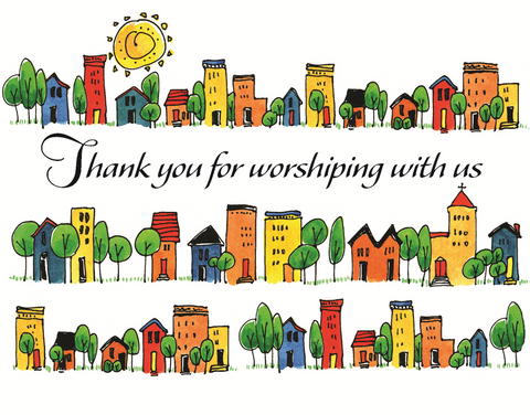 Thank You For Worshiping With Us Card