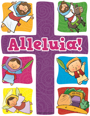 Easter Puzzle Magnet: Alleluia!