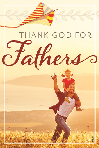 Father's Day Magnet: Thank God for Fathers