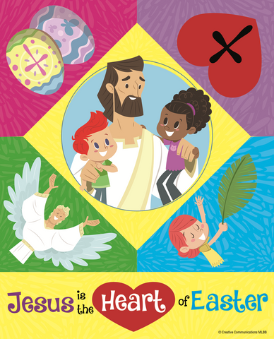 Easter Puzzle Magnet: Jesus is the Heart of Easter