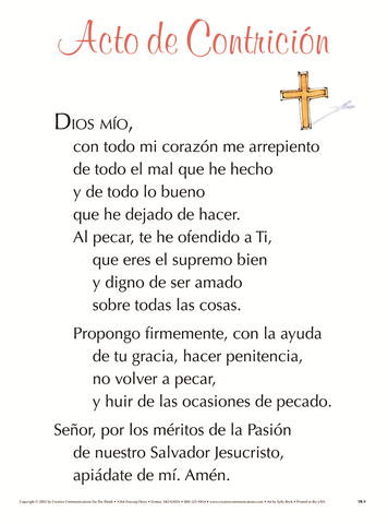 Acto De Contricion (act Of Contrition)