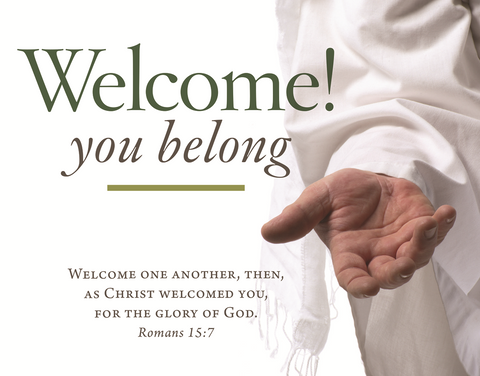 Po Card: Welcome You Belong Parish Ocassion Card