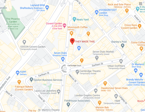 They Made This London shop location map