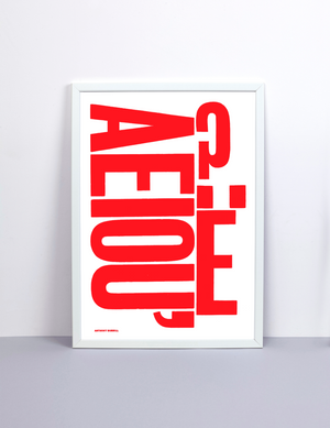 AEIOU BY ANTHONY BURRILL X THE PRIVATE PRESS