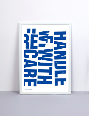 HANDLE WITH CARE BY ANTHONY BURRILL X THE PRIVATE PRESS