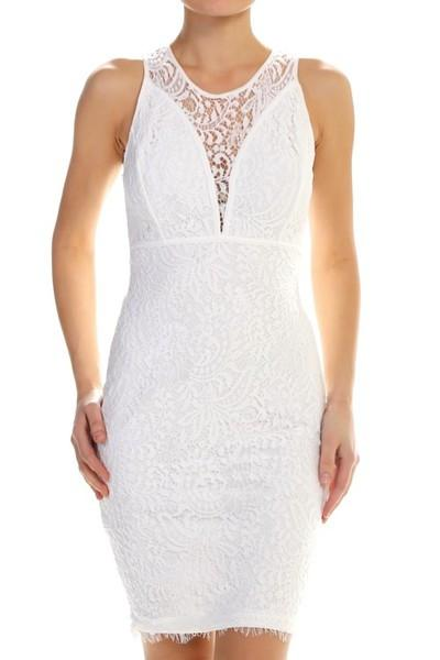 Beach Wedding Off White Sleeveless Lace Dress Petites Earth