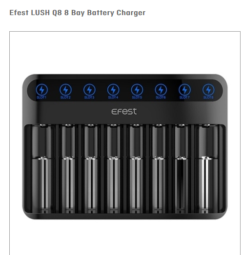 Efest Lush Q8 Battery Charger