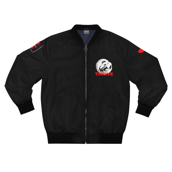 Men's Black Thrive Bomber Jacket