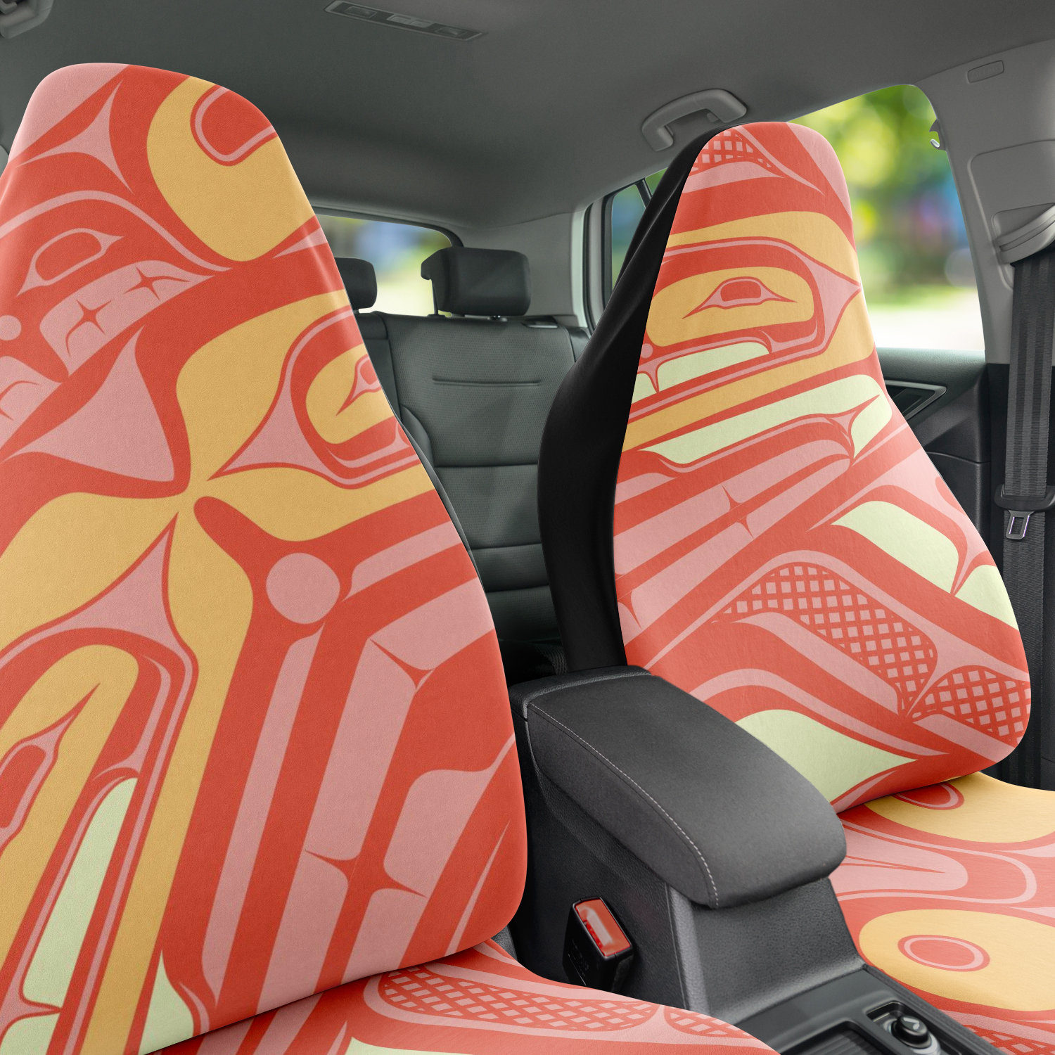 One Coral Car Seat Cover