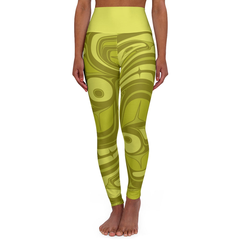 Lime High Waisted Yoga Leggings