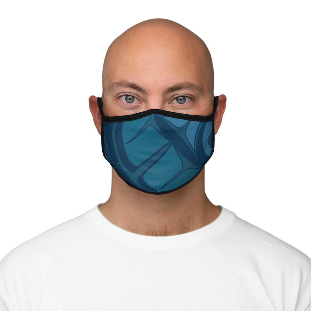 aqua formline Fitted Polyester Face Mask