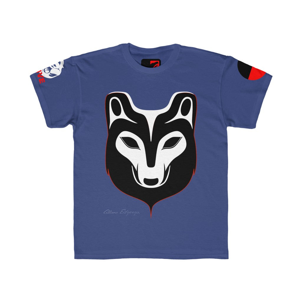 Youth Regular XS-XL Fit Cotton Wolf Tee