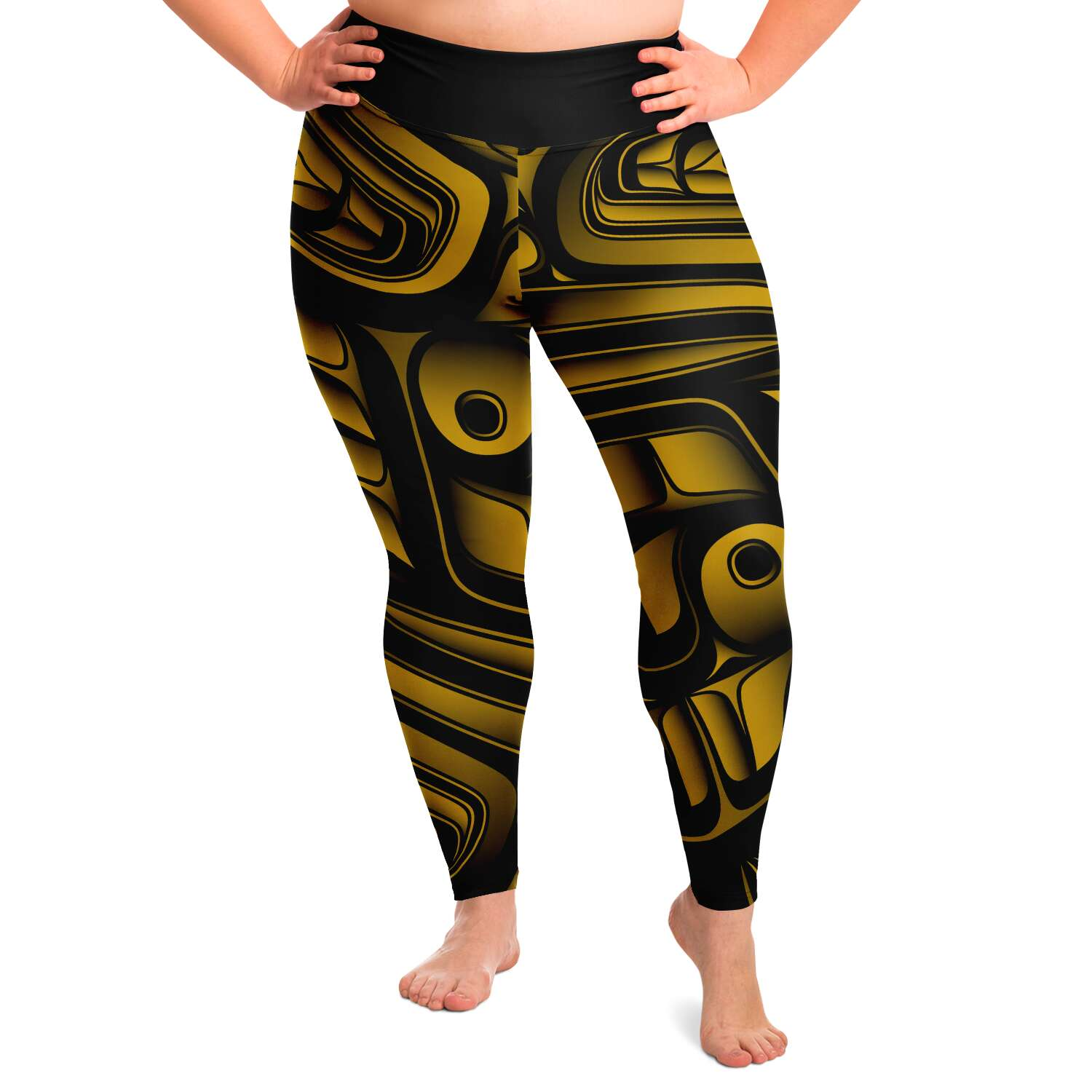 Gold Formline Plus Size Yoga Pant