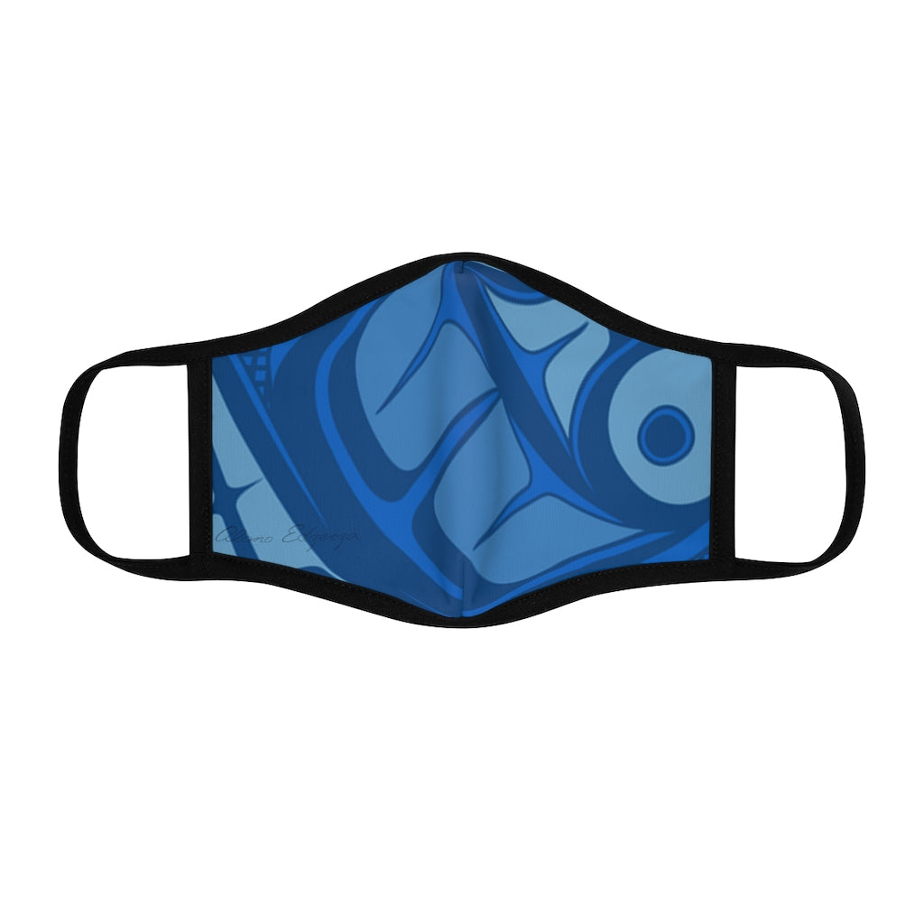 blue formline Fitted Polyester Face Mask
