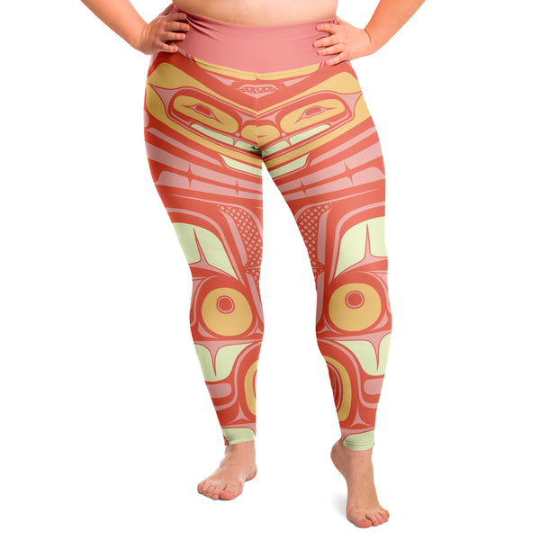 Coral Ocean Magic Plus Size Leggings