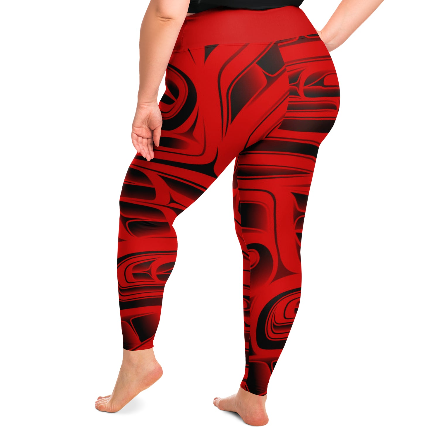 Red Plus Size Leggings
