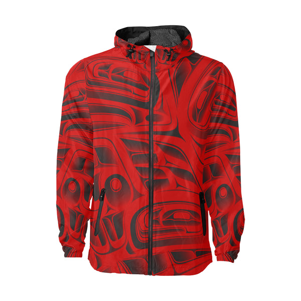 Red Nylon Windbreaker