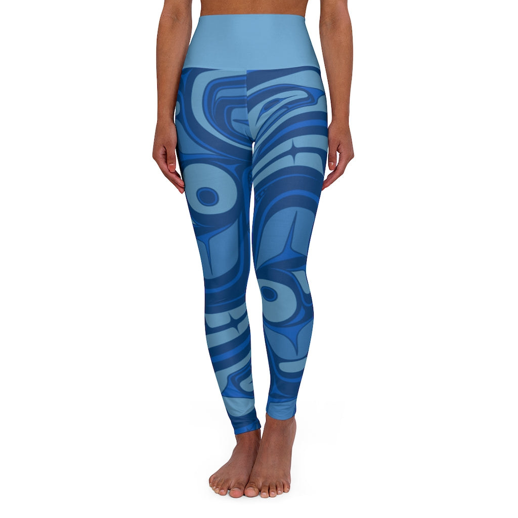 blue formline High Waisted Yoga Leggings